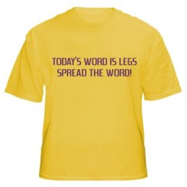 Today's Word Is Legs